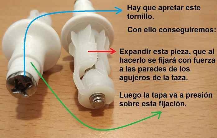 Sustitucion y montaje bisagra tapa inodoro dama de roca for Tapa de water