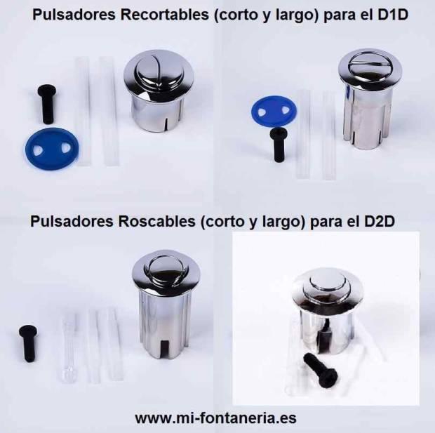 Pulsadores para los mecanismos D1D y D2D