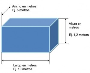 Enlace a cálculo del volumen de agua de una piscina