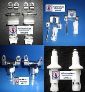 Varios modelos de bisagra de inodoro Roca