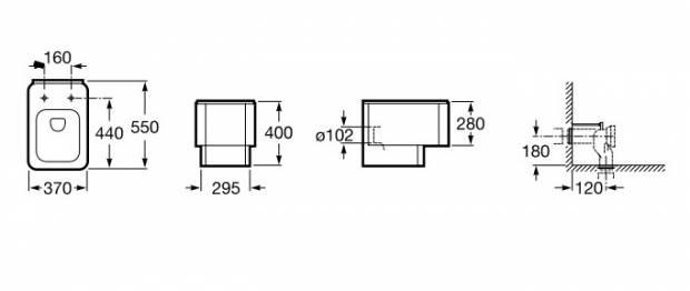 Medidas inodoro element cisterna empotrada for Cisterna empotrada