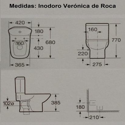 Medidas inodoro veronica for Medidas de inodoros roca