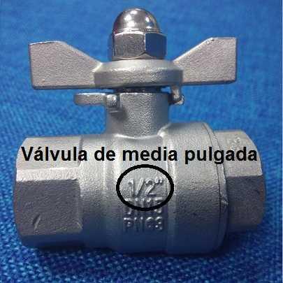 Típica medida en pulgadas de un accesorio de fontanería.