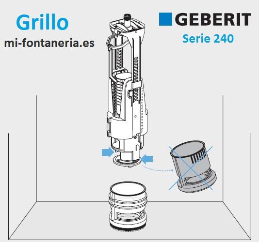 Serie 240 de geberit instrucciones de ajustes y montaje for Lo espejo 0847 la cisterna