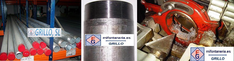 Tuberias de Hierro Galvanizado para instalaciones de fontanería.